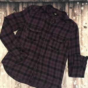 PAIGE Long Sleeve Flannel Top - M